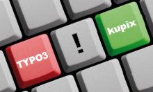 Tastaturausschnitt mit Tasten 'kupix' und 'TYPO3'