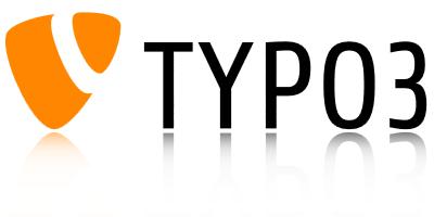 das neue TYPO3-CMS-Logo in orange, gespiegelt von kupix webdesign