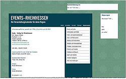 Screenshot der Homepage von www.events-rheinhessen.de