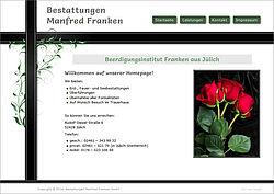 Screenshot von der Startseite von bestattungen-franken.de