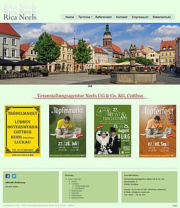 Screenshot von der Startseite