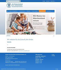 Screenshot der Startseite des Deutschen Kinderschutzbunds Orts- und Kreisverband Neustadt / Bad Dürkheim a.d. Weinstraße