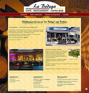 "Startseite vom ""La Bodega"" in Borkum"