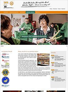 Screenshot: Jülicher Tafel – Neu ab 2020