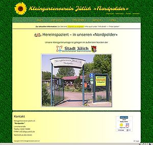 Screenshot Startseite von kgv-juelich.de